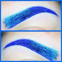 Blue Eyebrows by Biohazard1694