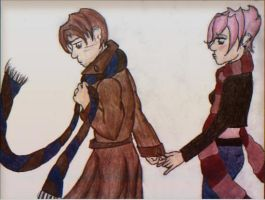 Lupin and Tonks by Worn-n-Shorn