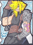 Cloud Strife, storms into battle by ShyDeathKitty