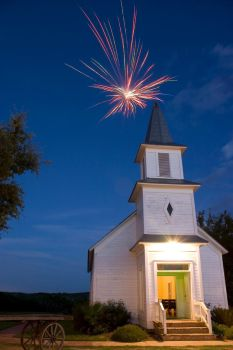 Church Multi Colored Firewoks by ace10414