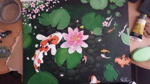 Koi Painting by UwiGoncho