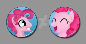 Pinkie His and Hers Pins by BrittanysDesigns