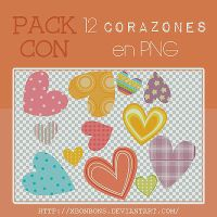 Corazonsitos en png~ by xBonbons