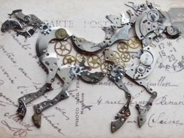 Steampunk horse by Hiddendemon-666
