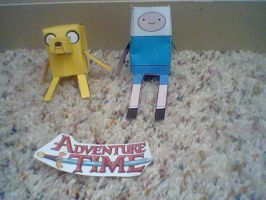 Paper Finn and Jake by SpongeDudeCoolPants