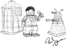 Dr who lego (WIP) by Demonyoshi