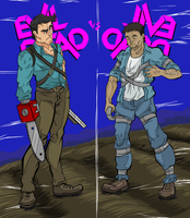 Evil Dead vs Evil Dead by Empty-Brooke