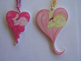 close up Pinkie/Fluttershy Heart by FangtheFluffy