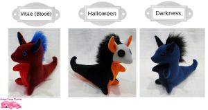 Dragon Totems (Vitae/Halloween/Darkness) by SPPlushies