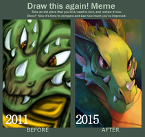 Draw this again meme by Caindra