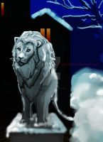 Stone Lions by s-girl
