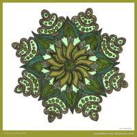 Petals Of Wisdom Mandala by Quaddles-Roost