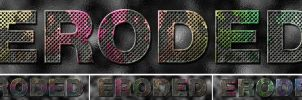 Eroded Metal Text by Digital-Saint