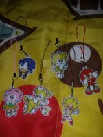 Sonic, Tails, Knuckles, Amy charms for sale by SEGAMew
