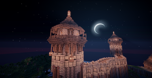 Minecraft Guard Towers by aquaarmor