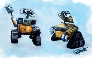 Wall-E Sketches by abigbat
