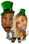 jay z and beyonce st patrick's day by ginno-b
