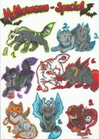 Halloween special adoptables (Closed) by xXGrinsekatze