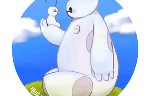 Baymax and Supguy by aulauly7