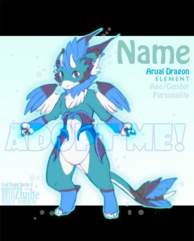 CLOSED Arual Dragon Adoptable #3 CLOSED by Zhiibe