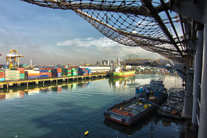 Manila Shipping Yard by TimGrey