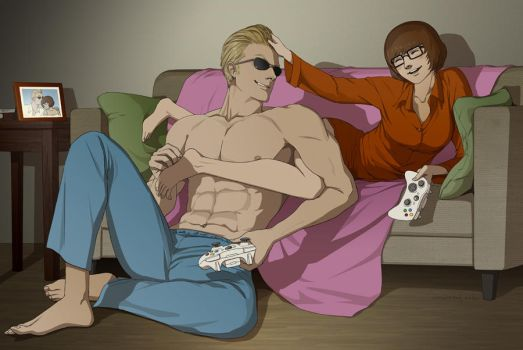 Commission:Johnny and Velma by doubleleaf