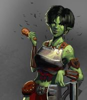 Orcish Female Warrior by Beaver-Skin