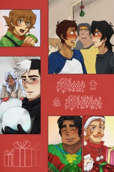 Voltron Holiday Card by criticU