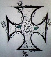 Celtic Cross with Roses by ichigonyaa