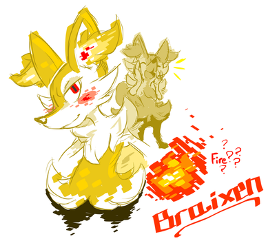 Braixen doodle by XenMetalWolf