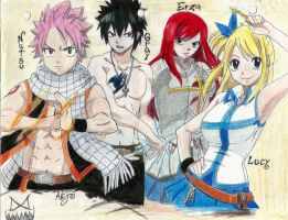 Fairy tail:characters by GrimaceCat