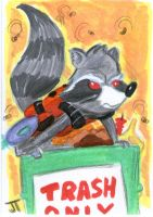 Rocket Takes Out the Trash by johnnyism