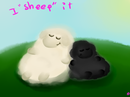 i ship theses sheeps and this pun is cheap .___. by otakugaelle