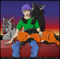 Trio of Wolves by emgeal