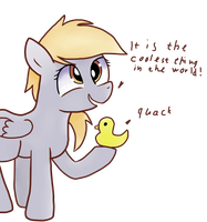 Derpy and duck by JoeMasterPencil