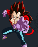 Vegeta the Hype Colored in W.I.P. 2 by Salem-L-Drako
