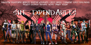 She - Expendables by Leon5cottKennedy