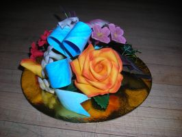 Gum Paste Flower Spray 3 by hobbitchef