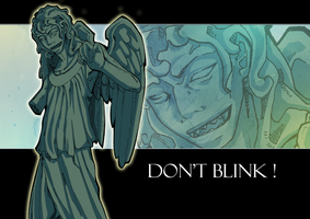 Weeping Angel. Don't Blink by Kazuoh