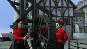 Red Shirts at the Trade Mission by PHDillman