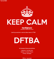 Keep Calm and DFTBA Journal Skin by accounted