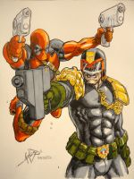 Deadpool Judge Dredd Colored by jamesq