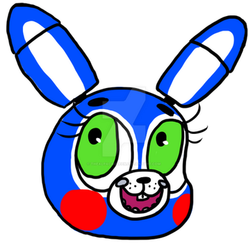 FNAF Toy Bonnie Badge by TheAlpacaQueen