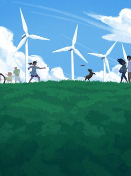 Windmills by cling17