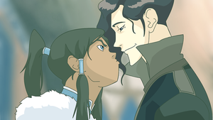Korra and Tahno by ALinder