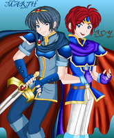 Marth and Roy by Misswaterfox