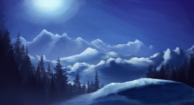 A Cold, Calm, and Lonely Night by QuarkBlast