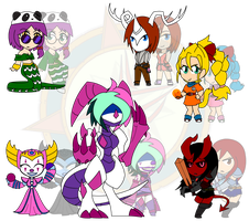 Assorted Chibis - Demons and Dragons by Dragon-FangX