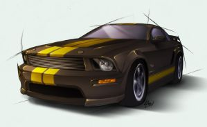 2007 Ford Mustang Shelby GT-H by Lizkay