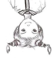 Creepy Upside-Down Person by Aileen-Kailum